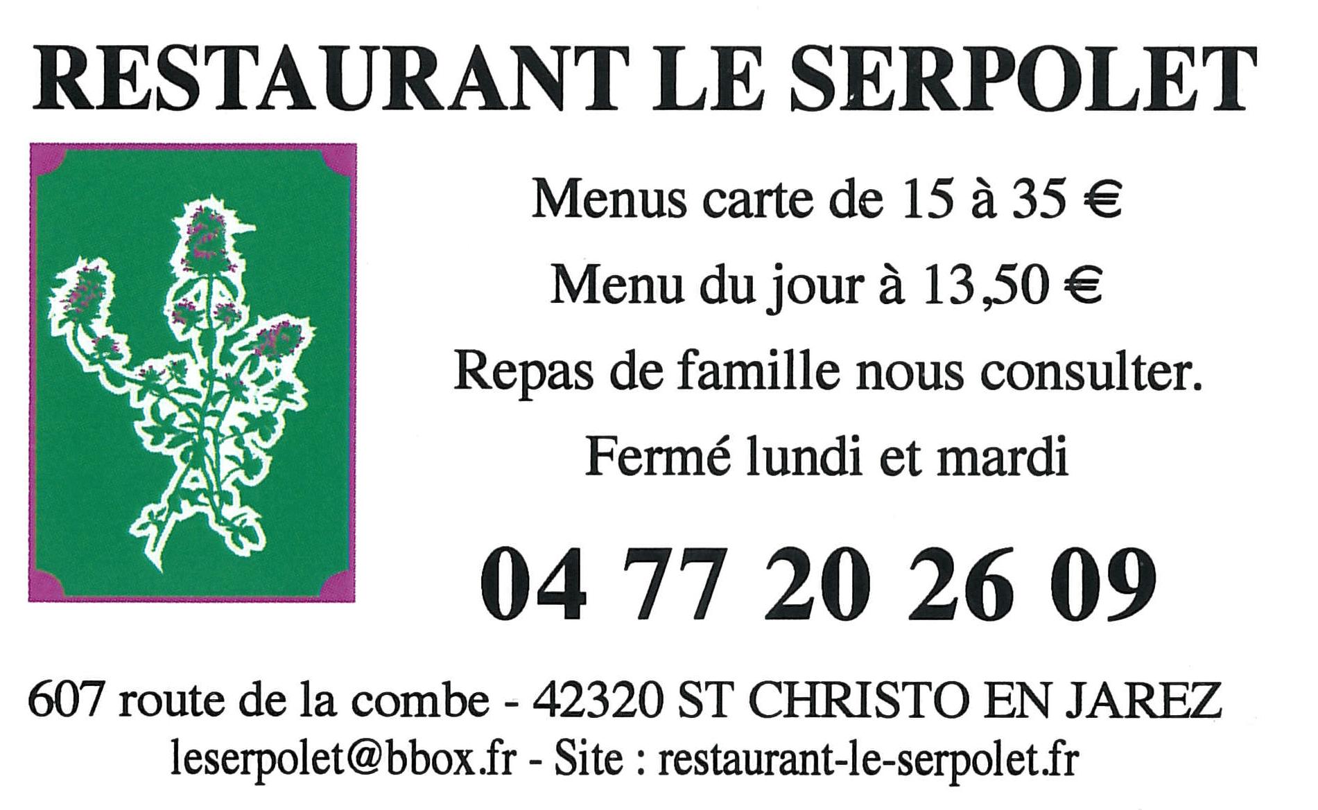 Restaurant Le Serpolet