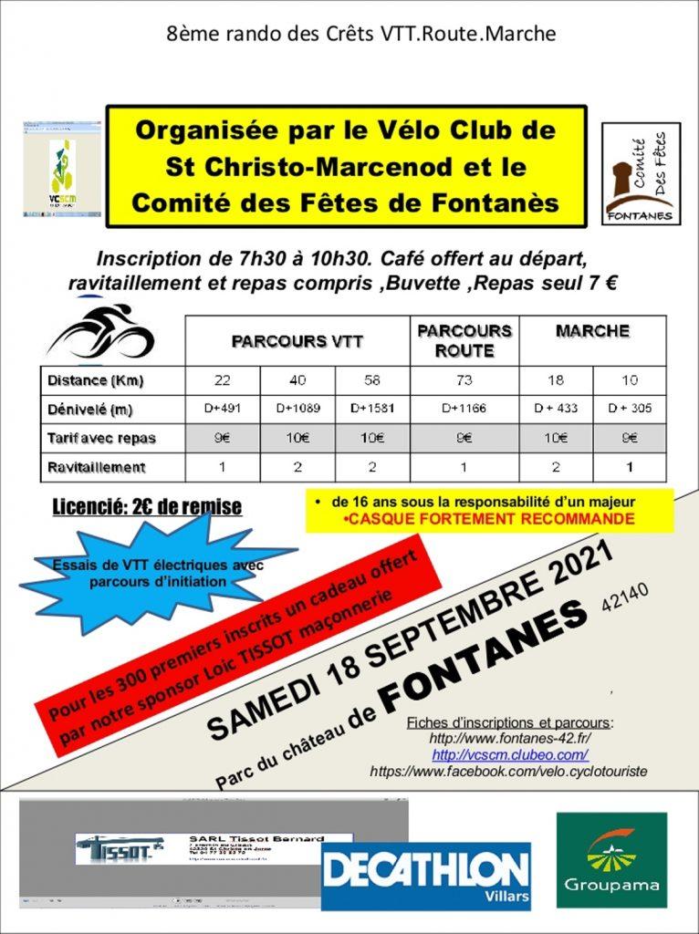 Rando des Crêts @ Parc du chateau | Fontanes | Auvergne-Rhône-Alpes | France